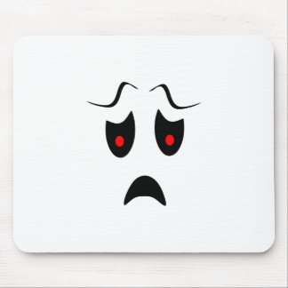 frown mouse pad