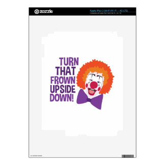 Frown Updide Down iPad 3 Skins