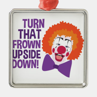Frown Updide Down Metal Ornament