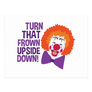 Frown Updide Down Postcard