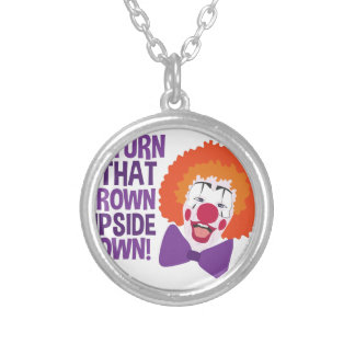 Frown Updide Down Silver Plated Necklace