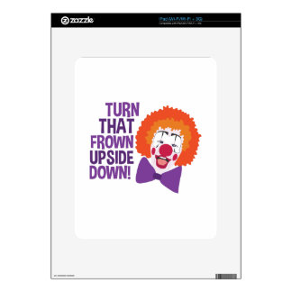 Frown Updide Down Skins For iPad
