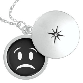 FROWNIE FACE LOCKET NECKLACE