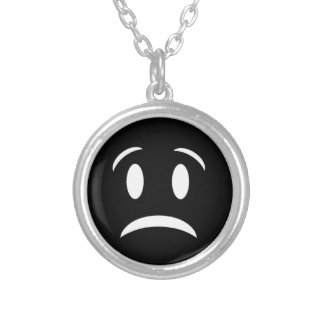 FROWNIE FACE SILVER PLATED NECKLACE