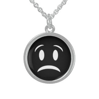 FROWNIE FACE STERLING SILVER NECKLACE