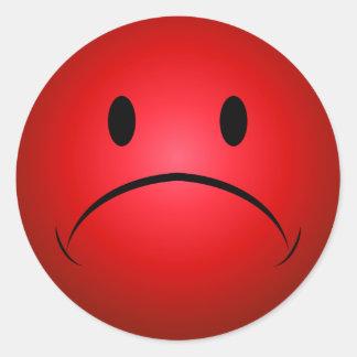 Frownie rojo hace frente al pegatina