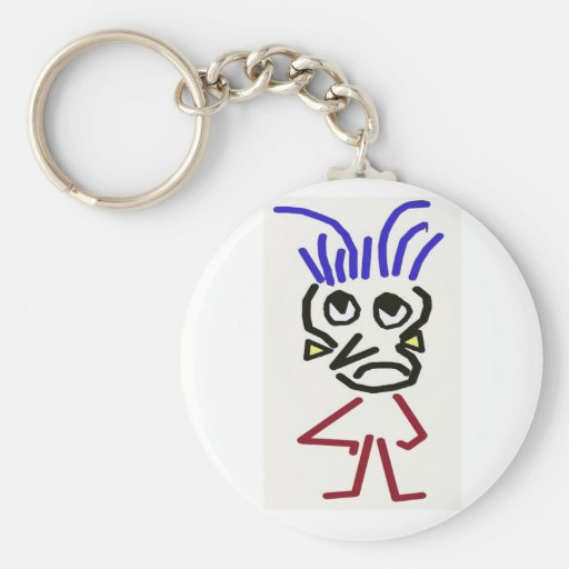 frowning face key chain