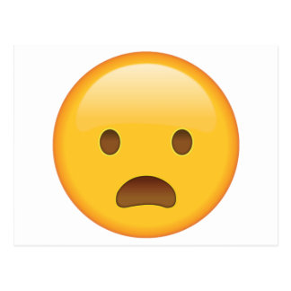 Frowning Face with Open Mouth - Emoji Postcard