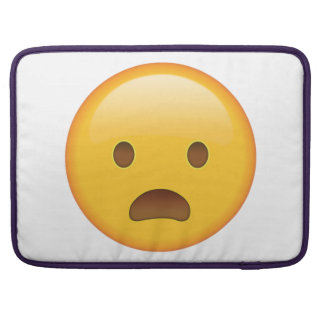 Frowning Face with Open Mouth - Emoji Sleeve For MacBook Pro