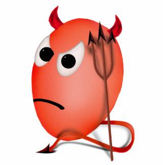 Frowning Little Devil ed Egg Photo Sculptures