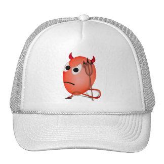 Frowning Little Devil'ed Egg Mesh Hats