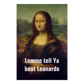 Frowning Mona Lisa Poster