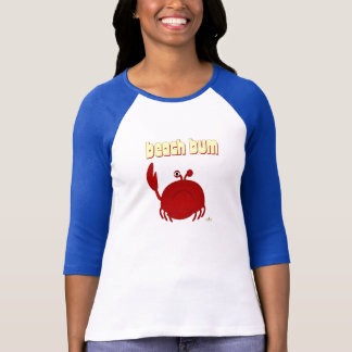 Frowning Red Crab Beach Bum T-Shirt