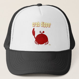 Frowning Red Crab Crab Dipper Trucker Hat