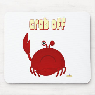 Frowning Red Crab Crab Off Mouse Mats