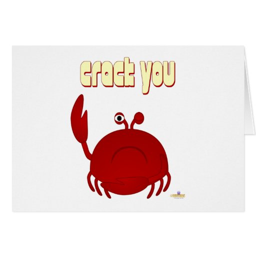 Frowning Red Crab Crack You Greeting Cards