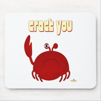Frowning Red Crab Crack You Mouse Mat