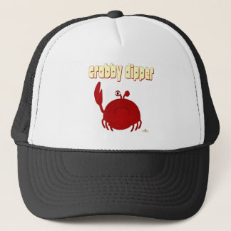 Frowning Red Crab   Dipper Trucker Hat