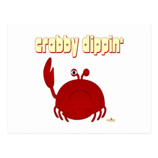 Frowning Red Crab   Dippin' Postcard