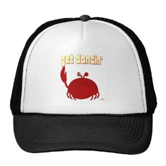 Frowning Red Crab Get Dancin' Trucker Hat