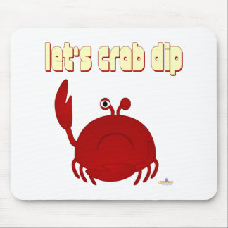 Frowning Red Crab Let's Crab Dip Mouse Pad