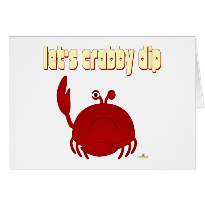 Frowning Red Crab Let's   Dip Card