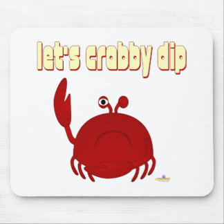 Frowning Red Crab Let's   Dip Mouse Mat