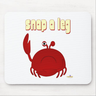 Frowning Red Crab Snap A Leg Mouse Pad