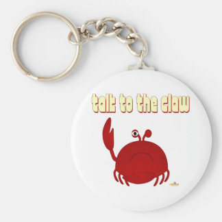 Frowning Red Crab Talk To The Claw Keychain