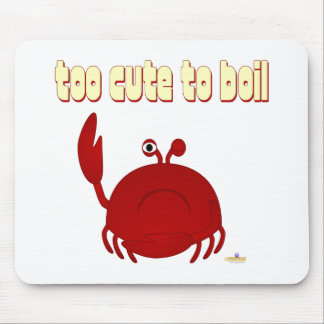 Frowning Red Crab Too Cute To Boil Mouse Mat