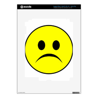 Frowning smiley skins for iPad 3
