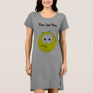 Frowning Yellow Emoticon Dress
