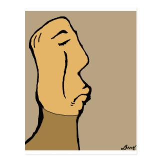 Frowny Baldy Tarjetas Postales
