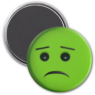 Frowny Face Green Magnets