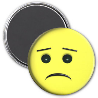 Frowny Face Yellow Refrigerator Magnets