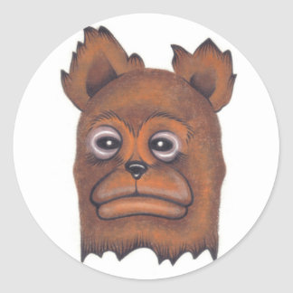 Frownybear Classic Round Sticker