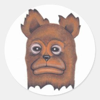 Frownybear Pegatina Redonda