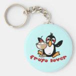 Froyo Lover Basic Round Button Keychain