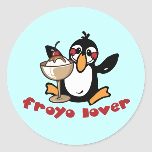 Froyo Lover Classic Round Sticker