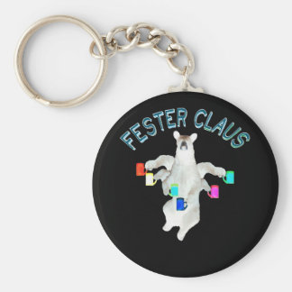 Froze Fester Claus Fully Customizable Claus Man Keychain