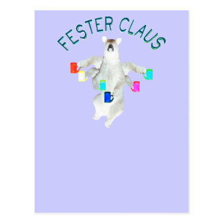 Froze Fester Claus Fully Customizable Claus Man Postcard