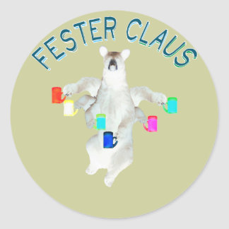 Froze Fester Claus Fully Customizable Claus Man Sticker