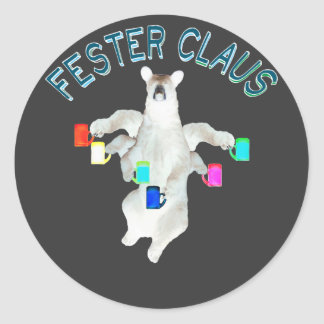 Froze Fester Claus Fully Customizable Claus Man Round Sticker
