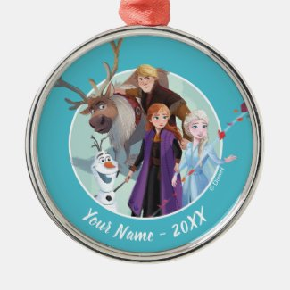 Frozen 2: Anna, Elsa & Friends | Change Metal Ornament