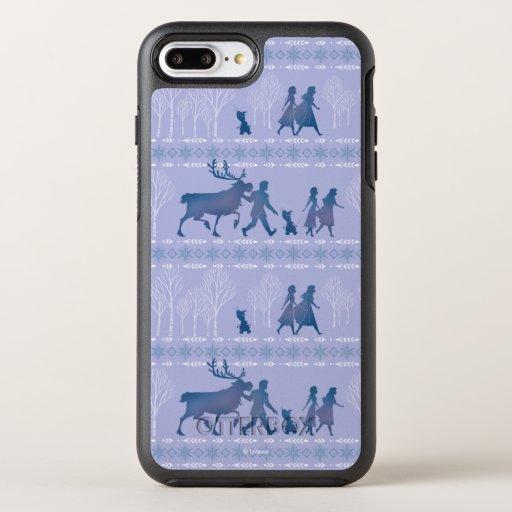 Frozen 2: Anna, Elsa, & Friends Winter Pattern OtterBox Symmetry iPhone 8 Plus/7 Plus Case