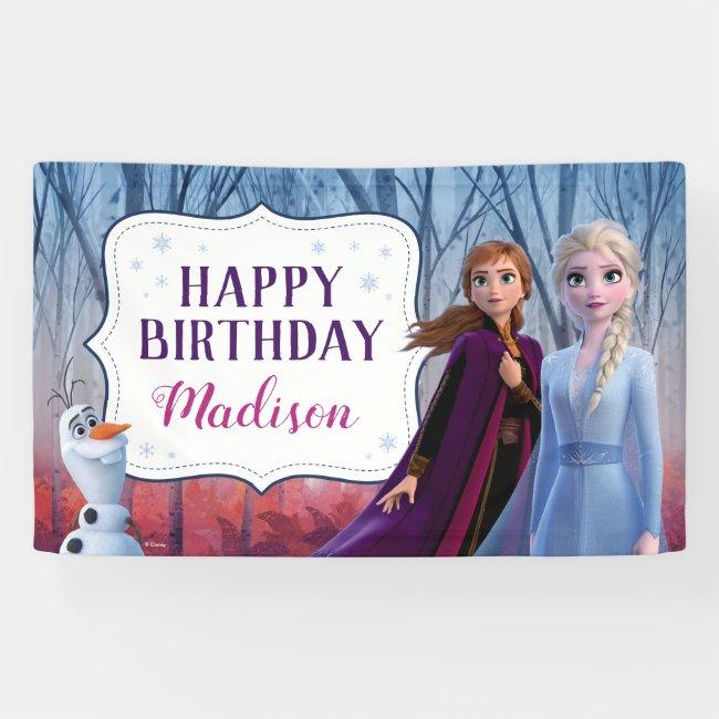 Frozen 2 - Anna & Elsa Happy Birthday Banner