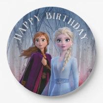 Frozen 2 - Anna & Elsa Happy Birthday Paper Plate