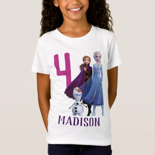 Frozen 2 _ Anna Elsa  Olaf Birthday Girl T_Shirt