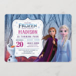 """Frozen 2 - Anna, Elsa & Olaf Birthday Party Invitation<br><div class=""""desc"""">Celebrate your Birthday with Anna,  Elsa & Olaf in these awesome Frozen 2 Birthday Invitations. Personalize by adding all your party details!</div>"""