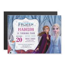 Frozen 2 - Anna, Elsa & Olaf Birthday Party Magnetic Invitation
